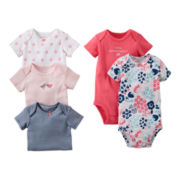 Carter's® Floral 5-pk. Short-Sleeve Bodysuits - Girls newborn-24m