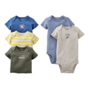 Carter's® Sports 5-pk. Short-Sleeve Bodysuits - Boys newborn-24m