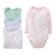 Carter's® Geo Print 4-pk. Long-Sleeve Bodysuits - Girls newborn-24m