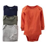 Carter's® Heathered 4-pk. Long-Sleeve Bodysuits - Boys newborn-24m