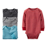 Carter'® Striped 4-pk. Long-Sleeve Bodysuits - Boys newborn-24m