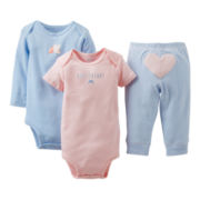 Carter's® Heart 3-pc. Turn-Me-Around Set - Girls newborn-24m