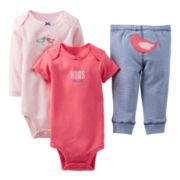 Carter's® Bird 3-pc. Turn-Me-Around Set - Girls newborn-24m