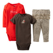 Carter's® Leopard 3-pc. Turn-Me-Around Set - Girls newborn-24m