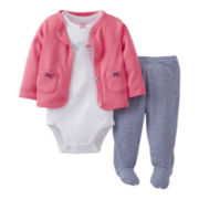Carter's® Bird 3-pc. Cardigan Set - Girls newborn-9m