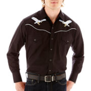 Ely Cattleman® Long-Sleeve Western Eagle Shirt-Big & Tall