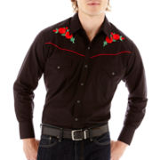 Ely Cattleman® Long-Sleeve Western Rose Shirt-Big & Tall