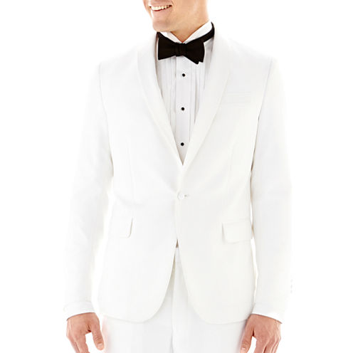 Savile Row® White Tuxedo Jacket - Slim-Fit