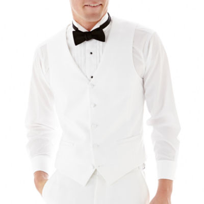 Savile Row® White Tuxedo Vest - Slim-Fit
