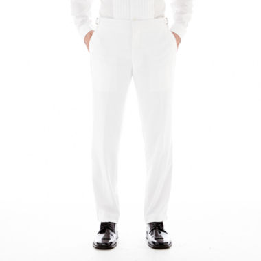 jcpenney.com | Saville Row® White Tuxedo Pants - Slim-Fit