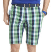 IZOD® Plaid Poplin Shorts
