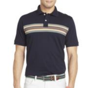 IZOD® Chest-Striped Jersey Polo