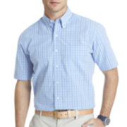 IZOD® Short-Sleeve Mini-Checked Woven Shirt