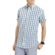 IZOD® Short-Sleeve Multi-Checked Woven Shirt