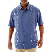Nat Nast® Short-Sleeve Morse Sewed Silk-Tencel® Shirt-Big & Tall