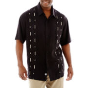 Nat Nast® Short-Sleeve Morse Sewed Silk-Tencel® Shirt–Big & Tall