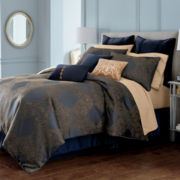 Royal Velvet® Caldwell 4-pc. Jacquard Comforter Set & Accessories