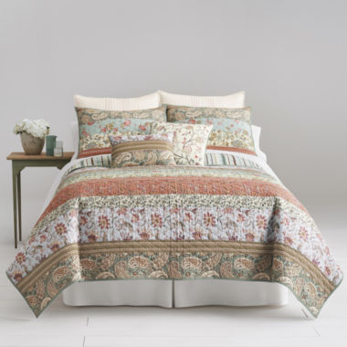 jcpenney.com | Home Expressions™ Jacobean Stripe Quilt and Accessories