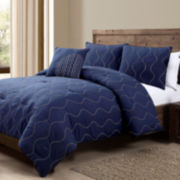 Victoria Classics Nora 4-pc. Embroidered Comforter Set