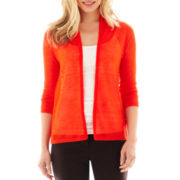 Worthington® Long-Sleeve Open-Stitch Cardigan