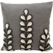 Idea Nuova White Florals Decorative Pillow