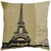 Idea Nuova Vintage Paris Linen Decorative Pillow