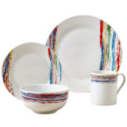 Shadow Stripe 16-pc. Dinnerware Set