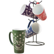 5-pc. Coffee Mug and Tree Set