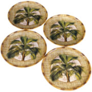 Las Palmas Set of 4 Earthenware Dinner Plates