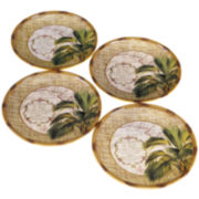 Las Palmas Set of 4 Earthenware Dessert Plates