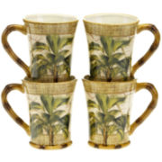 Las Palmas Set of 4 Earthenware Mugs