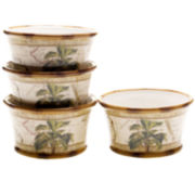 Las Palmas Set of 4 Earthenware Ice Cream Bowls