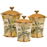 Las Palmas 3-pc. Earthenware Canister Set