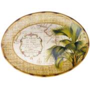 Las Palmas Earthenware Oval Platter