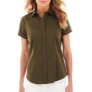 Liz Claiborne Short-Sleeve Shirt