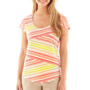 Liz Claiborne® Short-Sleeve Scoopneck Top - Tall