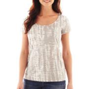 Liz Claiborne® Short-Sleeve Tie-Dyed Tee