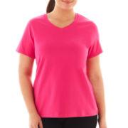 Spalding® Short-Sleeve Sports T-Shirt - Plus
