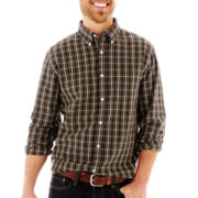 St. John's Bay® Long-Sleeve Poplin Shirt