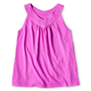 Total Girl® V-Neck Sleeveless Top - Girls 6-16 and Plus