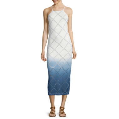 jcpenney.com | a.n.a® Sleeveless Ombré Burnout Midi Dress