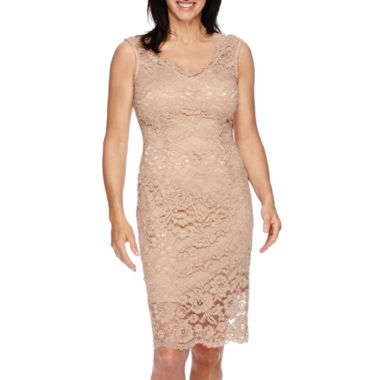 jcpenney.com | Blu Sage Sleeveless Lace Sheath Dress