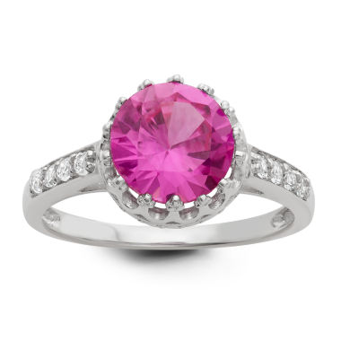 jcpenney.com | Lab Created Pink Sapphire Sterling Silver Ring