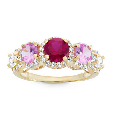 jcpenney.com | Lab Created Ruby & Lab Created Pink Sapphire 14K Gold Sterling Silver Ring