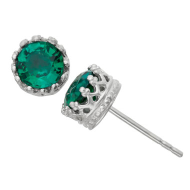 jcpenney.com | Lab-Created Emerald Sterling Silver Earrings