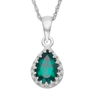 jcpenney.com | Lab-Created Emerald Sterling Silver Pendant