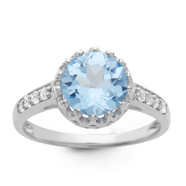 jcpenney.com | Sterling Silver Lab Created Blue Aquamarine Crown Ring