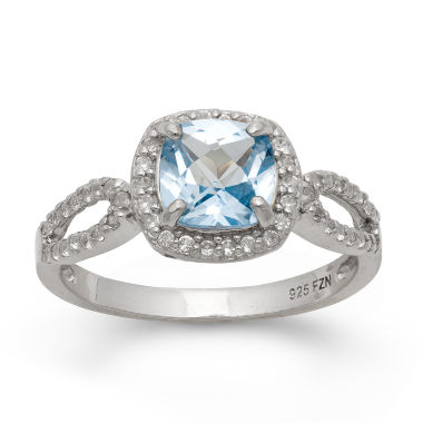 jcpenney.com | Lab Created Aquamarine & Lab Created White Sapphire Sterling Silver Ring