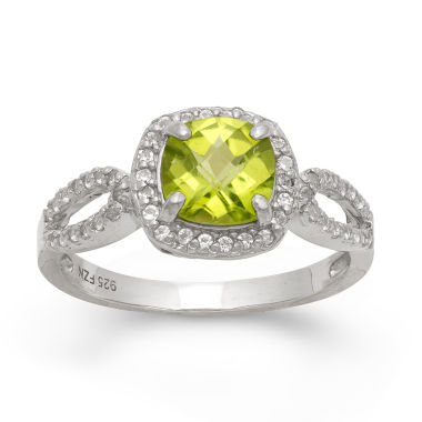 jcpenney.com | Genuine Peridot & Lab Created White Sapphire Sterling Silver Ring