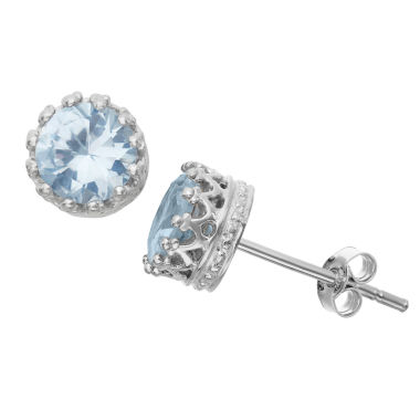 jcpenney.com | Lab Created Aquamarine Sterling Silver Earrings